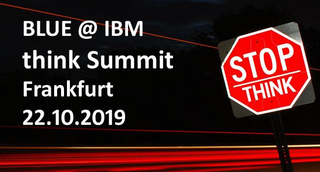 BLUE auf dem think Summit